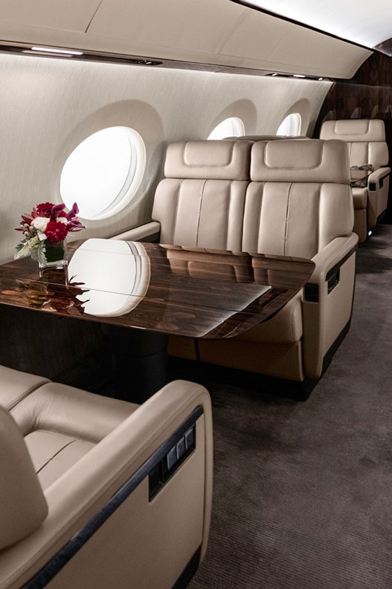 vip jet luxuries interior