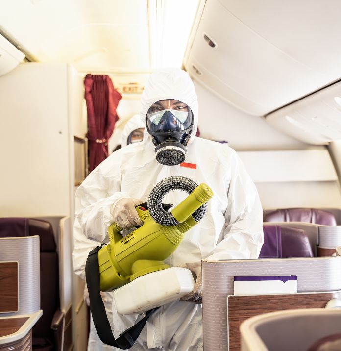 disinfection of aircraft as a covid-19 precaution