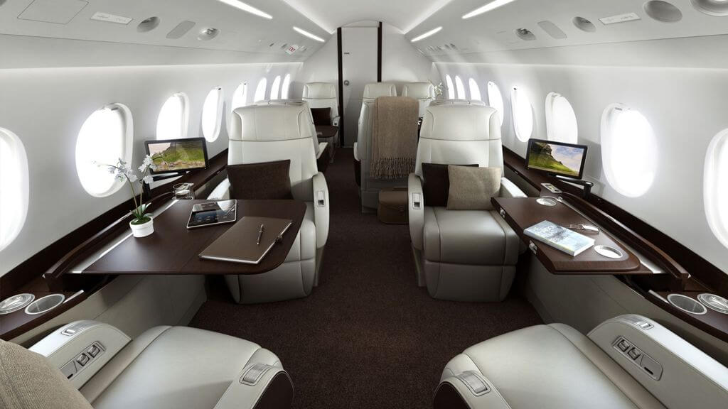 luxury vip jet interior