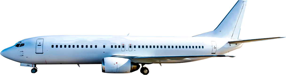 Commercial charter boeing 737-400
